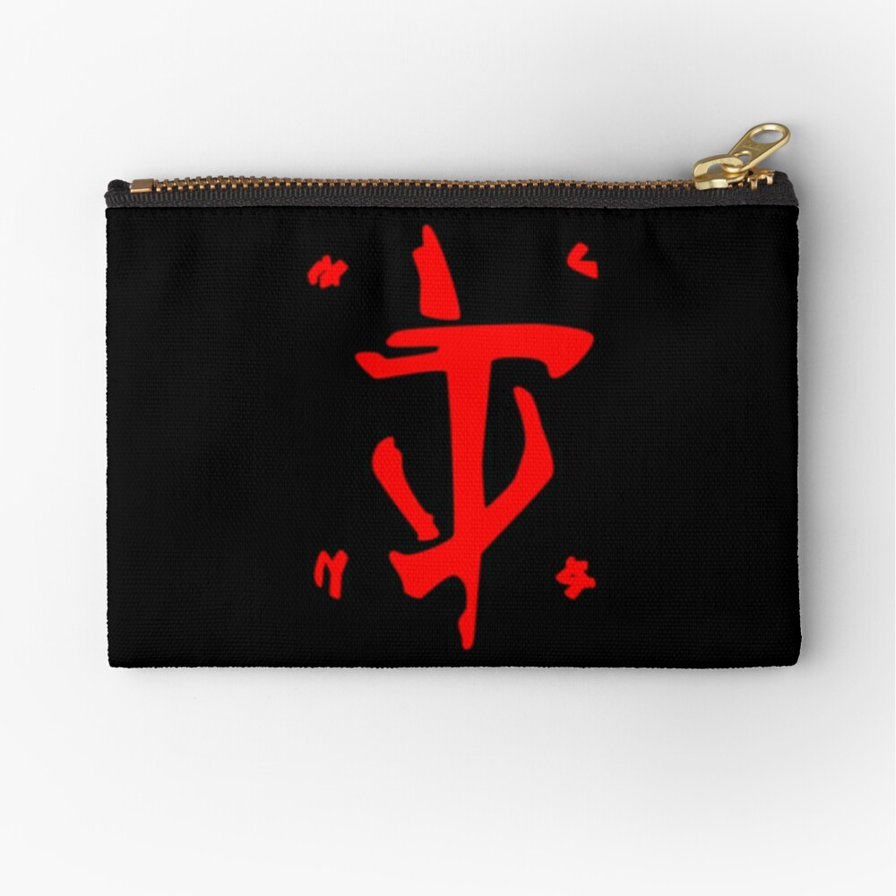 Mark of the Doom Slayer - Red Zipper Pouch
