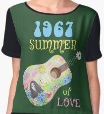 1967 Summer of Love Hippie T-shirt Chiffon Top