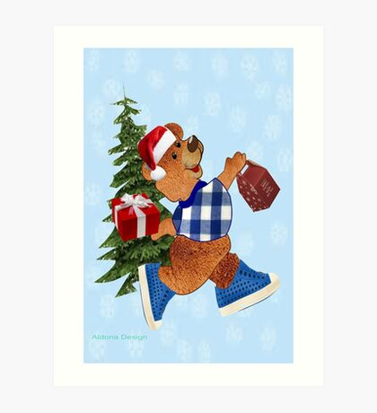 Teddy with gifts [ 2512 views] Art Print