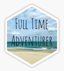 Full Time Adventurer Sticker