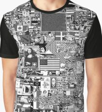 Reddit r/Place 10K resolution Official r/TheFinalClean Cleaned Version – Monochrome Graphic T-Shirt