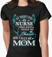 Nurse Mom Womens Fitted T-Shirt