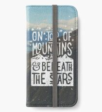 On Top Of Mountains iPhone Wallet/Case/Skin