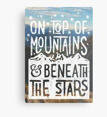 On Top Of Mountains Metal Print