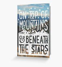 Auf Berge Grußkarte