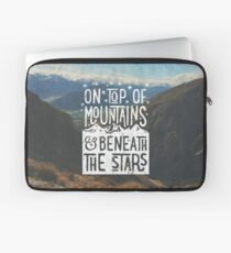 On Top Of Mountains Laptop Sleeve
