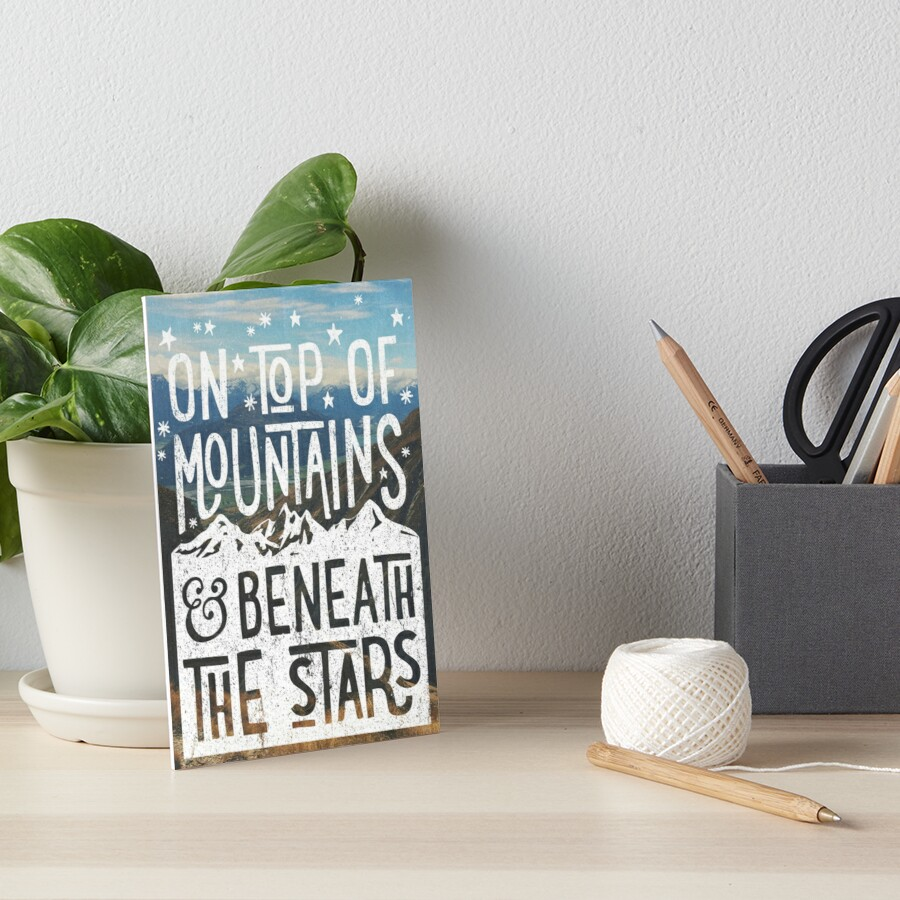 On Top Of Mountains Art Board Print