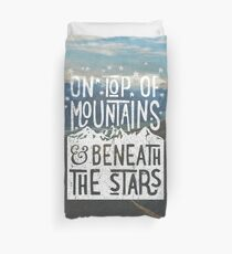 On Top Of Mountains Duvet Cover