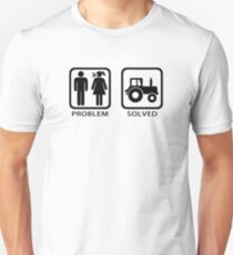 Problem Solved Tractor Farming Unisex T-Shirt