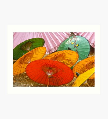 Thai Umbrellas Art Print