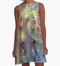 Crystalline Squares 8 A-Line Dress