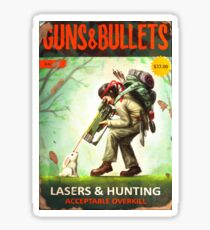 Guns and Bullets Sticker