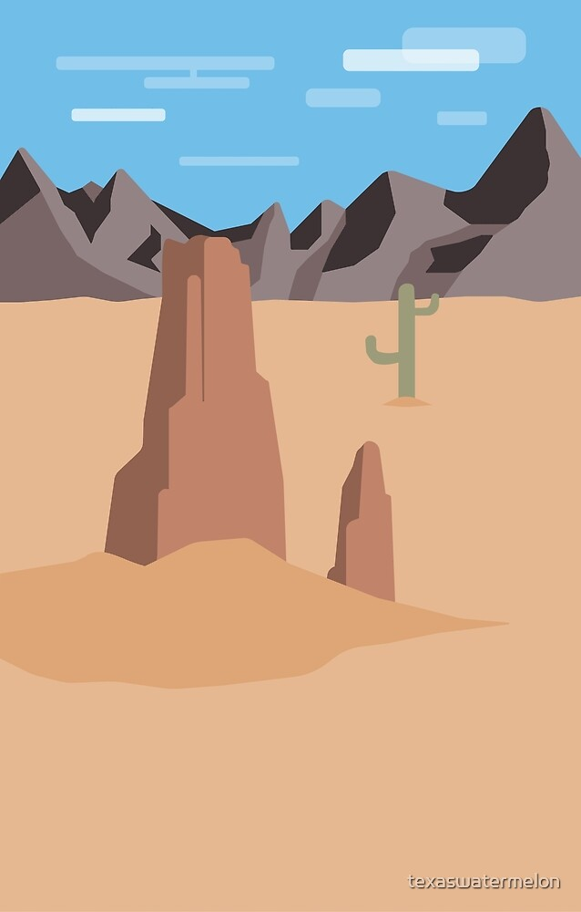 Lonely Desert Landscape by texaswatermelon