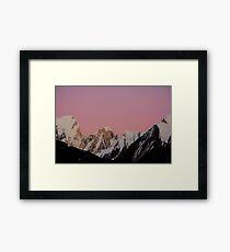 Mountains Pink Sunset Framed Print