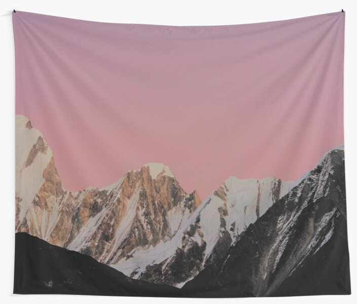 Mountains Pink Sunset by TravelDream