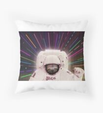 Sloth in outerspace Throw Pillow