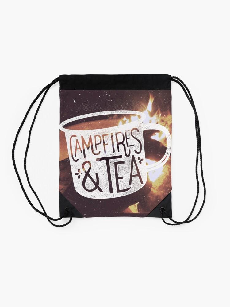 Alternate view of CAMPFIRES and TEA Drawstring Bag