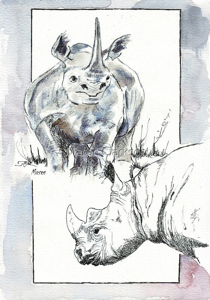 Rhino Study - The Unpardonable Crime by Maree Clarkson