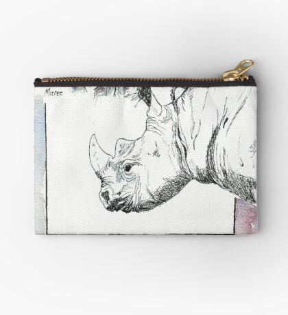 Rhino Study - The Unpardonable Crime Zipper Pouch