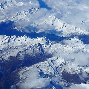 Cordillera de nieve azul de TravelDream