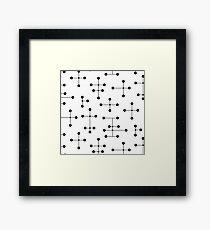 Midcentury Modern Dots 2.0 Framed Print