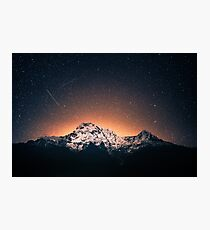 Star Mountain Milky Way Night Photographic Print