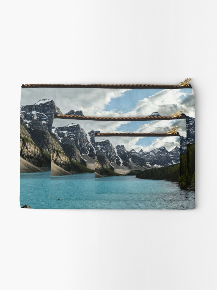 Alternate view of Rocky Mountains Blue Lake National Park Zipper Pouch