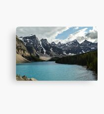 Rocky Mountains Blue Lake National Park Canvas Print