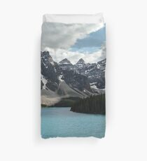 Rocky Mountains Blue Lake National Park Duvet Cover