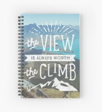 WORTH THE CLIMB Spiral Notebook