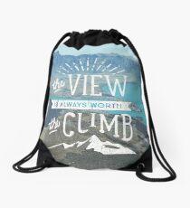 WORTH THE CLIMB Drawstring Bag