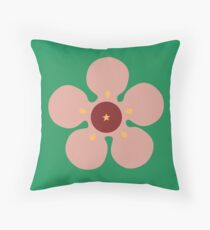 Waxflower Throw Pillow