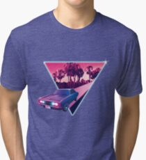 Nighdrifter retro wave car Tri-blend T-Shirt