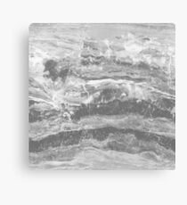 Grey Gray Marble - Real Marble Canvas Print
