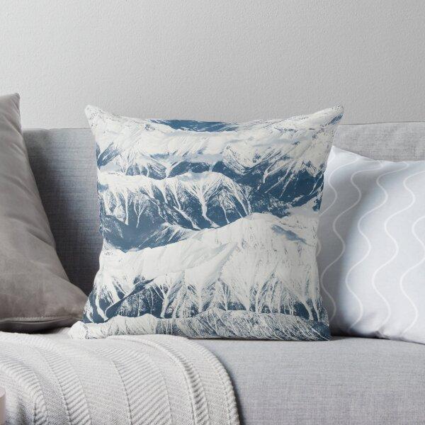 Alps Snow Mountain Range Throw Pillow
