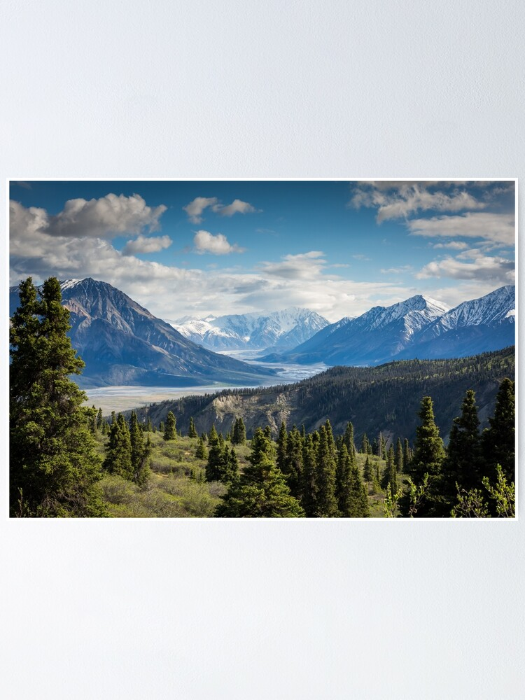 Alternate view of Forest Mountains River National Park Nature Photography Wall Art Poster