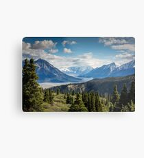 Forest Mountains River National Park Nature Photography Wall Art Metal Print