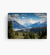 Forest Mountains River National Park Nature Photography Wall Art Canvas Print