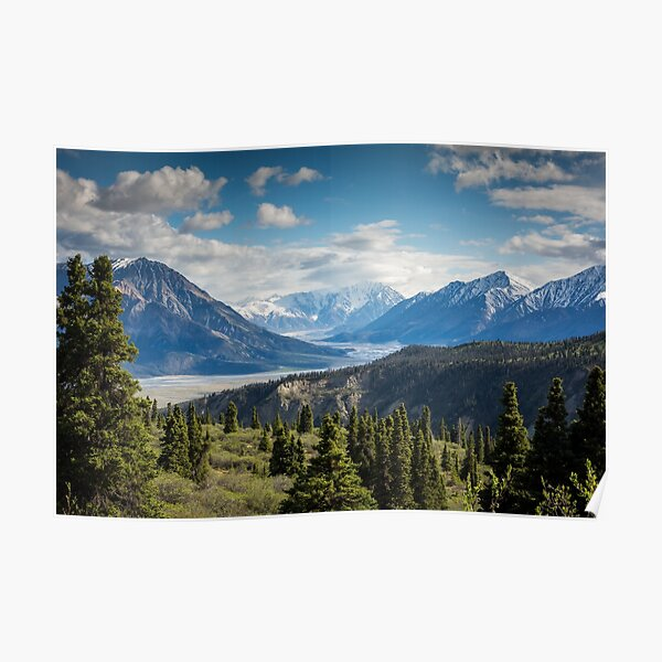 Forest Mountains River National Park Nature Photography Wall Art Poster