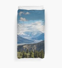Forest Mountains River National Park Nature Photography Wall Art Duvet Cover