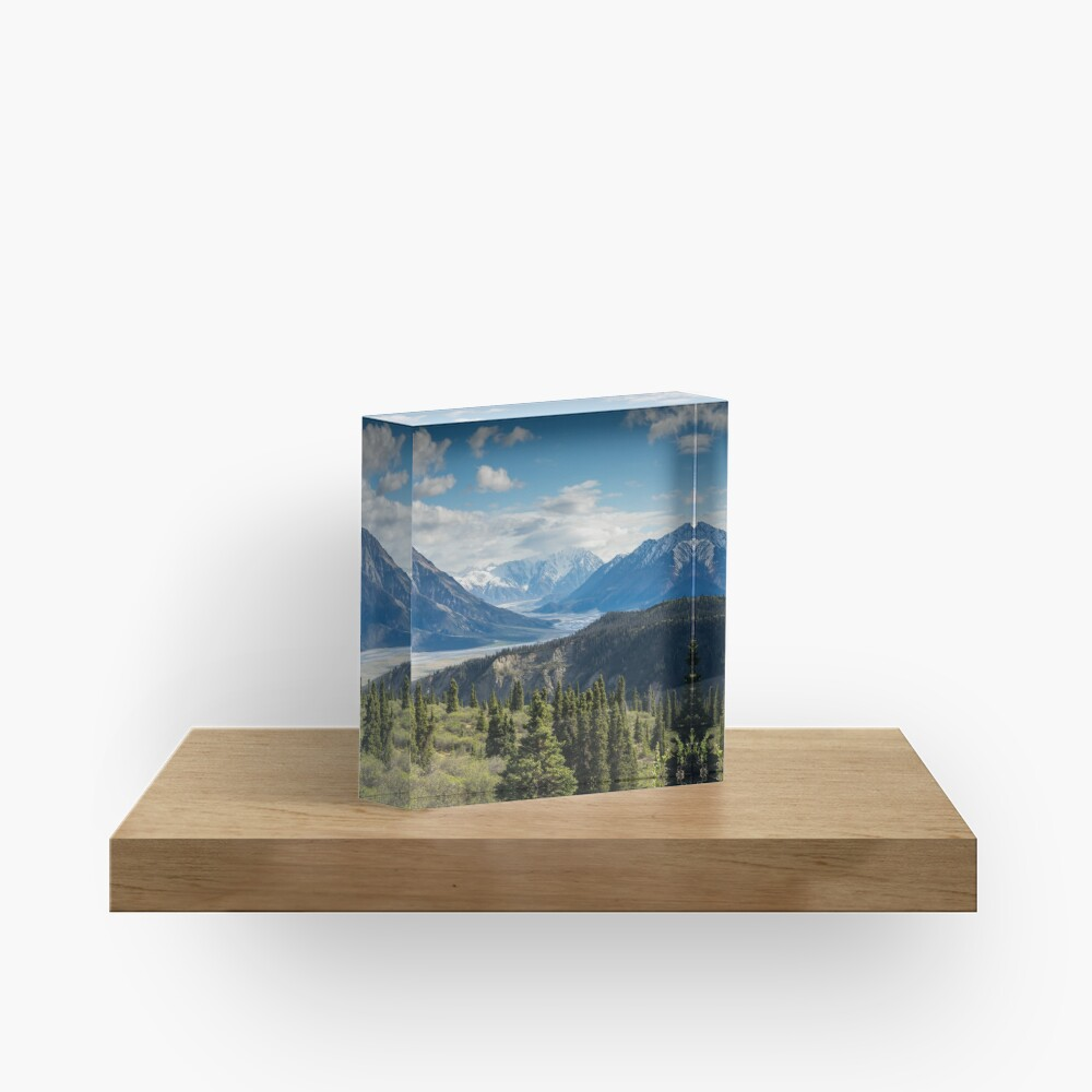 Forest Mountains River National Park Nature Photography Wall Art Acrylic Block