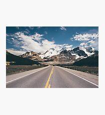 Lámina fotográfica Viaje por la montaña de vacaciones