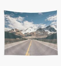Mountain Vacation Road Trip Wall Tapestry