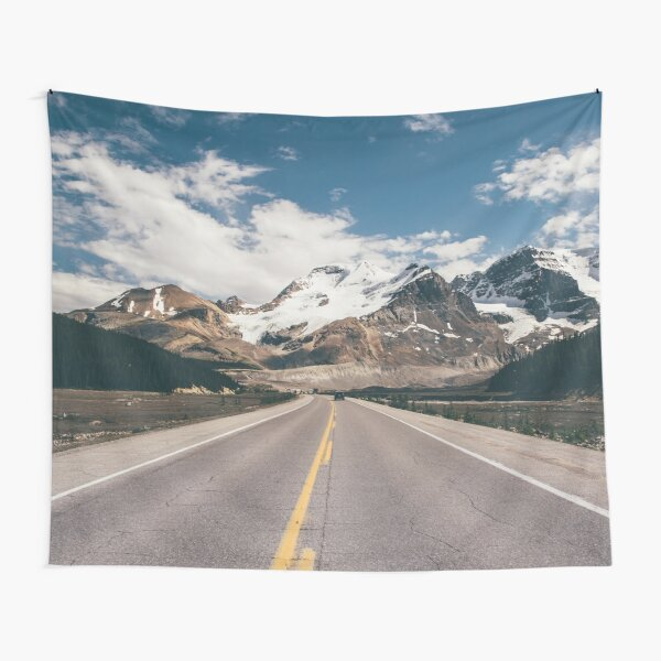 Mountain Vacation Road Trip Tapestry