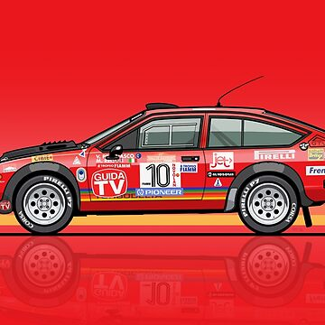 Alfetta GTV Turbodelta Jolly Club FIA Group 4 1980 Sanremo Rally by monkeycom