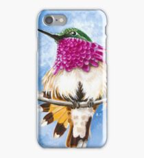 Costa's Hummingbird perched on the branch iPhone Case/Skin
