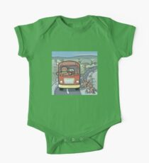Mr Biscuit Drives the School Bus One Piece - Short Sleeve