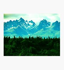 Rocky Mountains Forest Dream Photographic Print