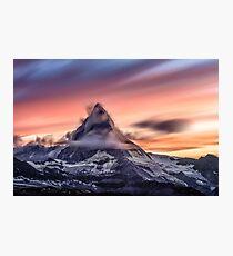 Alp Peak Mountain at Sunset Photographic Print