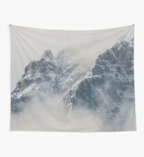 Mountain Clouds Peak Wall Tapestry